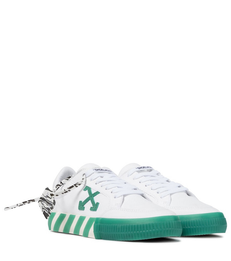 Off-White Exclusive to Mytheresa – Low Vulcanized canvas sneakers in white