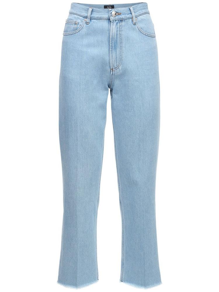 A.P.C. Rudie Cotton Denim Straight Leg Jeans in blue