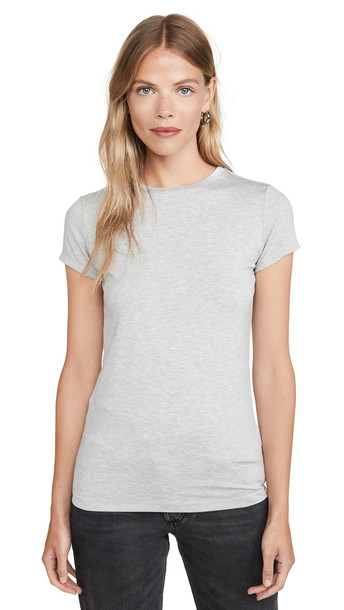 L'AGENCE Ressie Crew Tee in grey