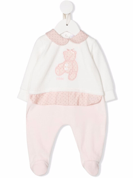 Le Bebé Enfant teddy bear romper - Pink