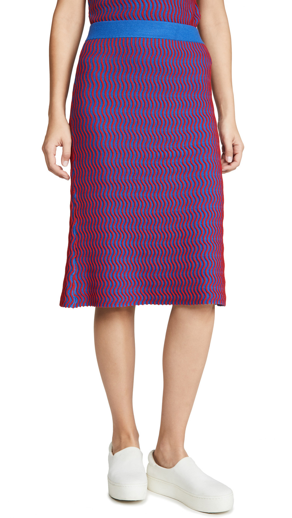 Opening Ceremony Squiggle Skirt in cobalt