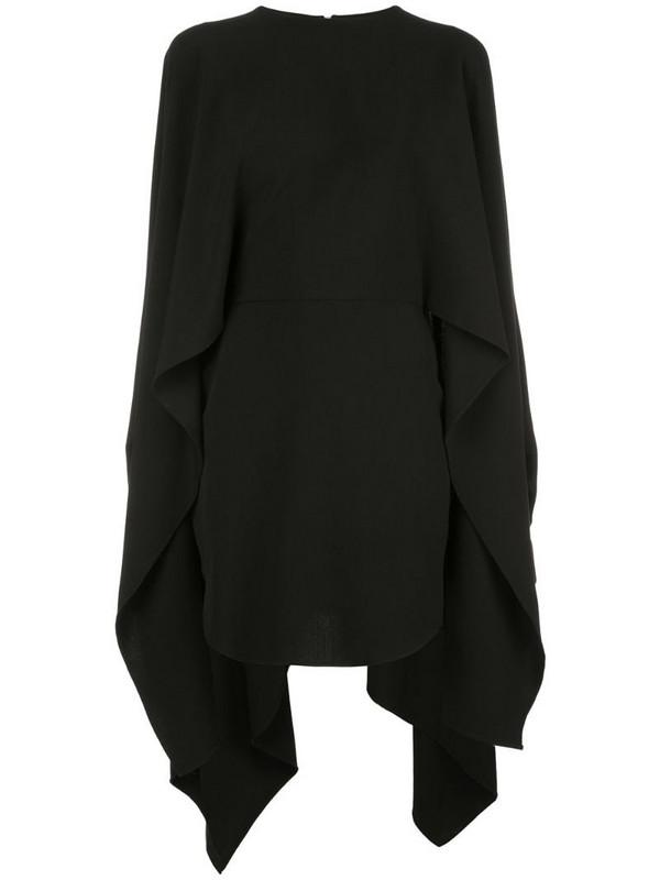 Paula Knorr high-low hem dress in black