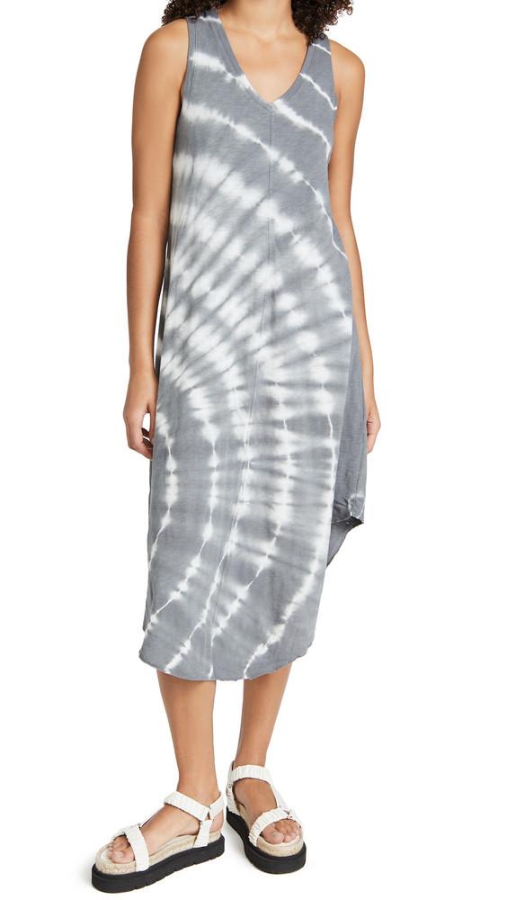 Z Supply Reverie Spiral Tie Dye Dress in charcoal
