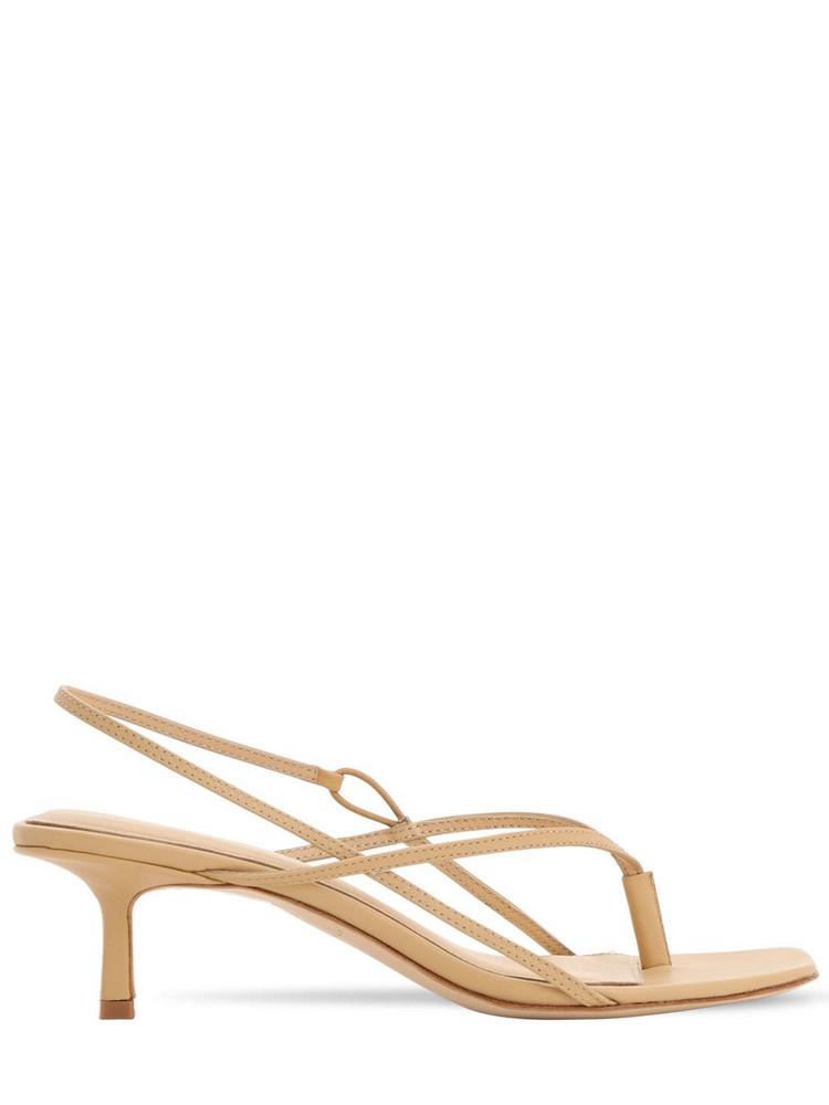 STUDIO AMELIA 50mm Leather Thong Sling Back Sandals