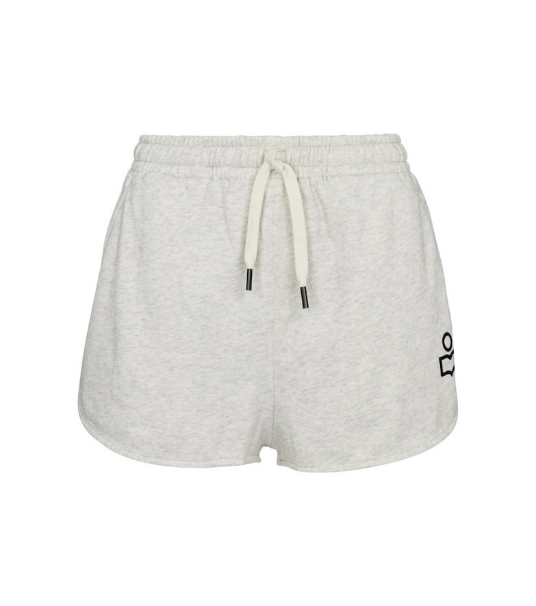 Isabel Marant Mifikia cotton-blend jersey shorts in grey