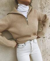 sweater,beige sweater