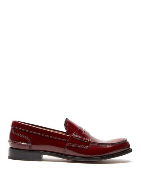 Church's - Pembrey Leather Penny Loafers - Womens - Burgundy