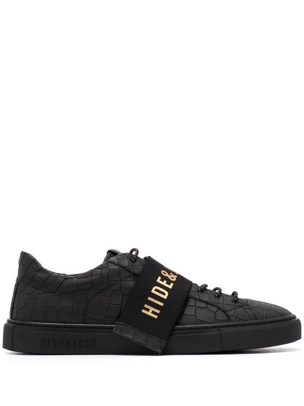 Hide&Jack interchangeable logo strap sneakers in black