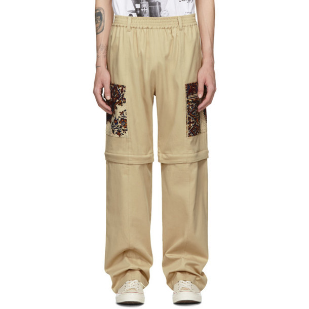 paria -FARZANEH paria /FARZANEH Beige Convertible Zip Cargo Pants