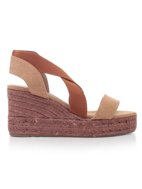 Castañer Cross Strap Wedge Sandals