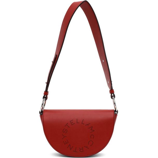 Stella McCartney Red Alter Nappa Marlee Logo Bag