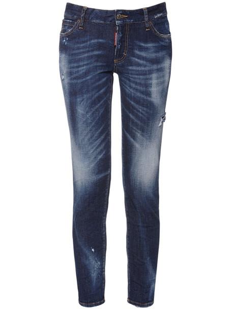 DSQUARED2 Medium Waist Denim Skinny Jeans in blue