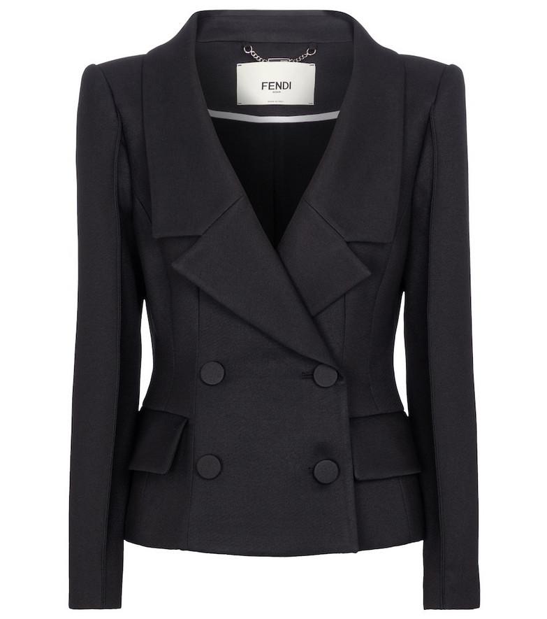 Fendi Double-breasted blazer in black