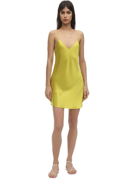 LUNA DI SETA Silk Slip Dress in green