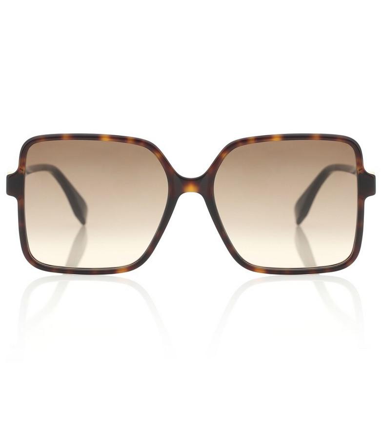 Fendi Square acetate sunglasses in brown