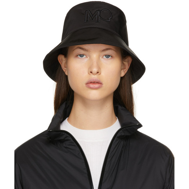 Moncler Black Gabardine Bucket Hat