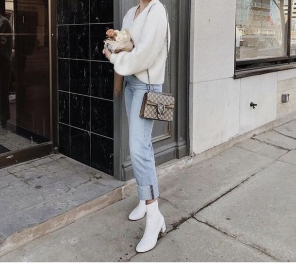 shoes ankle boots white chunky heels official