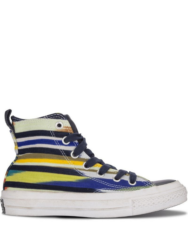 Converse striped high-top sneakers in blue