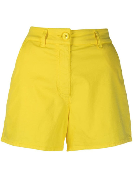 Love Moschino rainbow embroidery shorts in yellow