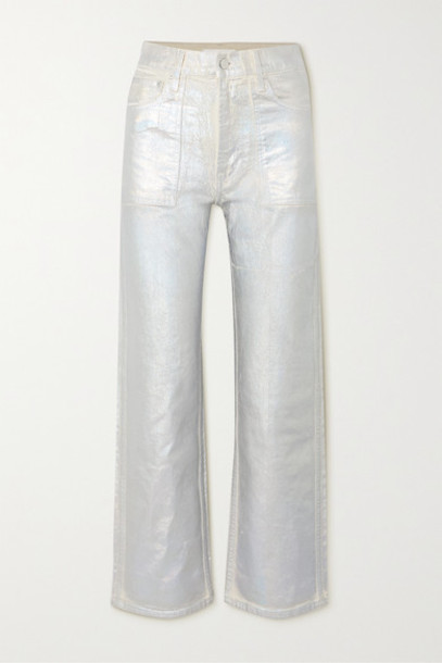 Helmut Lang - Factory Metallic High-rise Flared Jeans - Silver