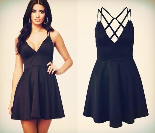 dress black dress little black dress open back black black dress criss cross criss cross back