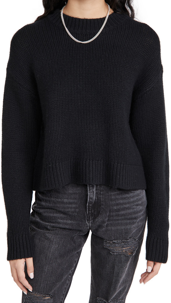 Sablyn Malone Cashmere Sweater in black