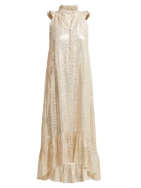 Masscob - Cuba Silk Blend Brocade Dress - Womens - Gold