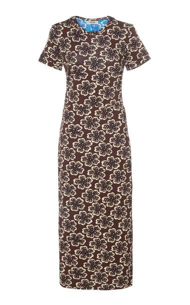 Rachel Comey Amara Floral-Print Jersey Midi Dress