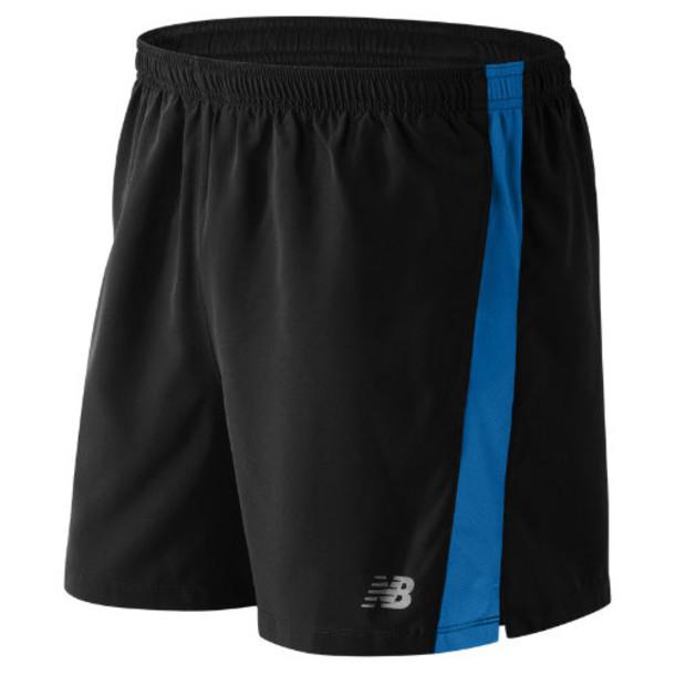 New Balance 61073 Men's Accelerate 5 Inch Short - Black/Blue (MS61073BDA)
