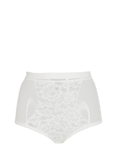 ELSE Petunia Lace High Waist Briefs in ivory
