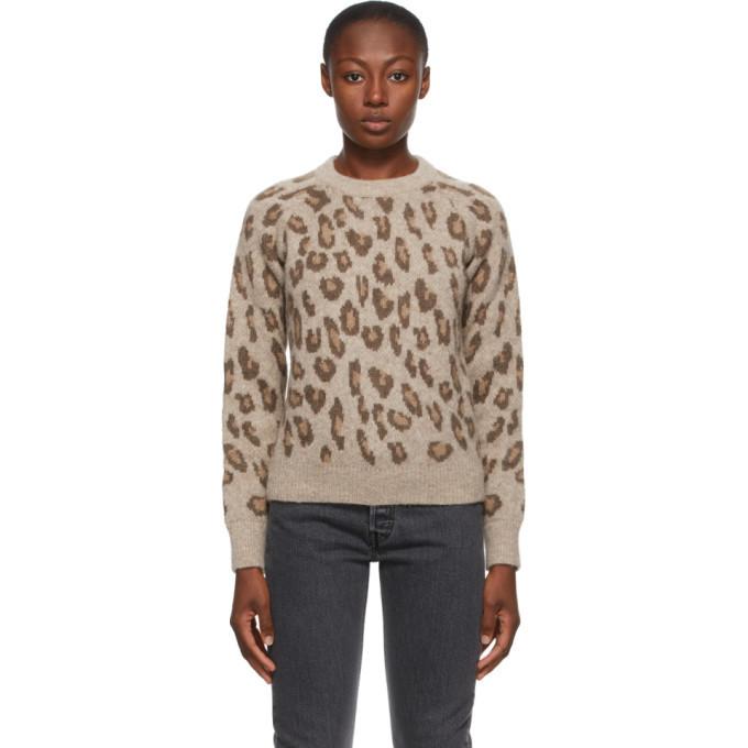 A.P.C. A.P.C. Brown Leopard Esther Sweater