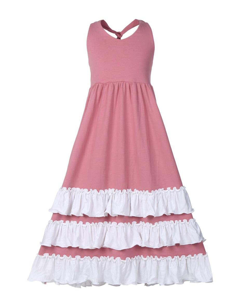 dress girls dress maxi dress maxi ruffle ruffle dress girls' dress kids fashion