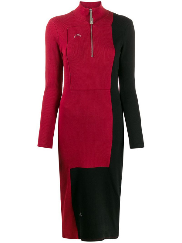 A-COLD-WALL* Divide two-tone dress in red