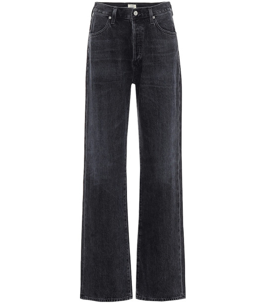 Citizens of Humanity Annina high-rise wide-leg jeans in black