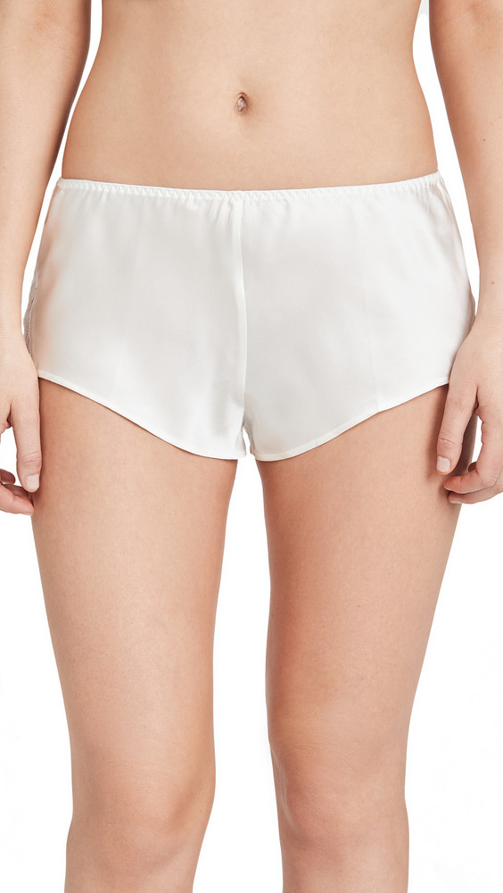 Journelle Charlotte Tap Shorts in ivory