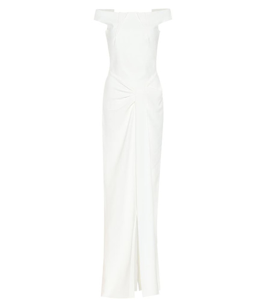 Roland Mouret Deauville off-the-shoulder gown in white