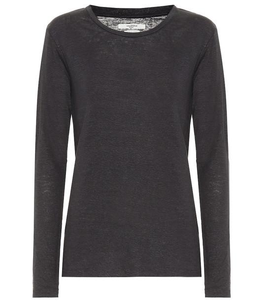 Isabel Marant, Étoile Kaaron linen top in grey