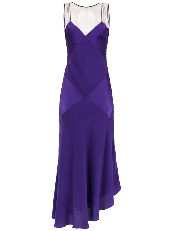 Mara Mac long silk dress in purple