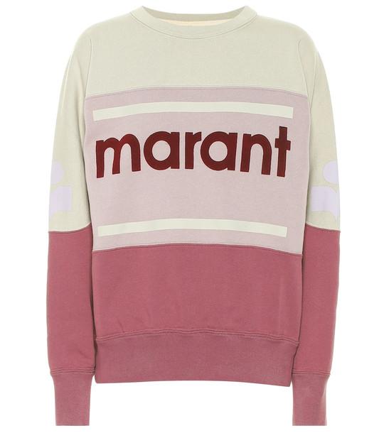 Isabel Marant, Étoile Gallian logo cotton-blend sweatshirt in purple