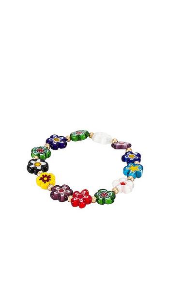 8 Other Reasons Flower Bracelet in Green,Blue in multi
