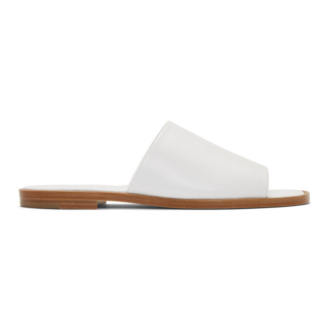 A-Plan-Application A_Plan_Application White Flat Sandals