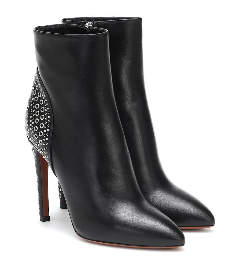 Alaïa Embellished leather ankle boots in black