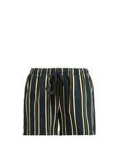 shorts,striped shorts,green
