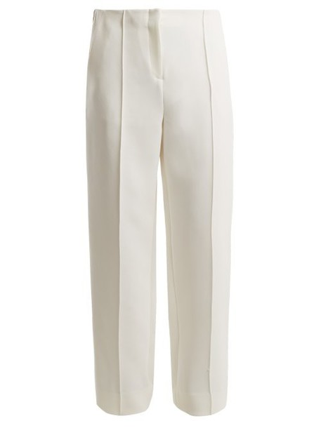 Diane Von Furstenberg - Mid Rise Wide Leg Side Striped Trousers - Womens - White