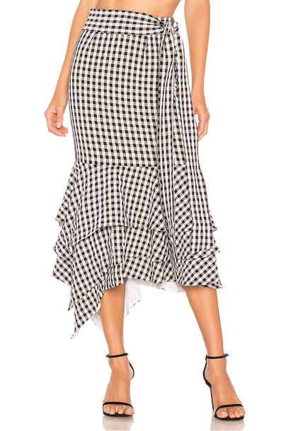 NBD Ayesha Midi Skirt in black