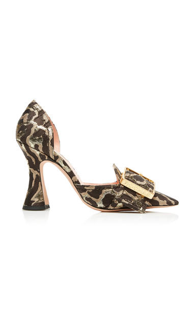 Rochas Leopard Buckle Pumps