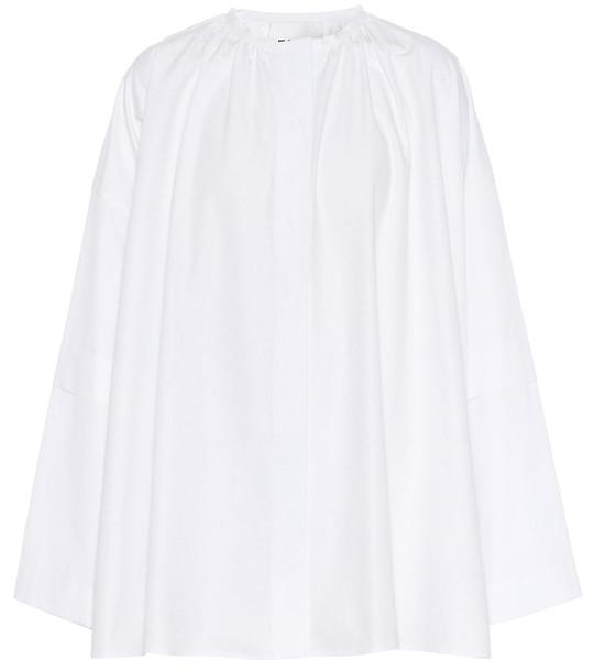 Jil Sander Cotton-poplin top in white