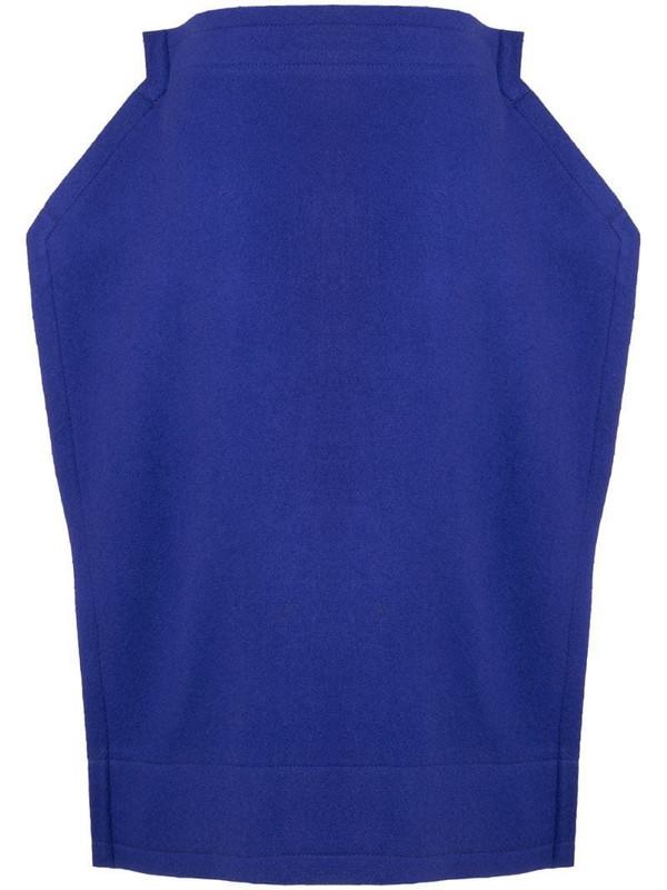 Comme Des Garçons Pre-Owned 2D midi skirt in blue