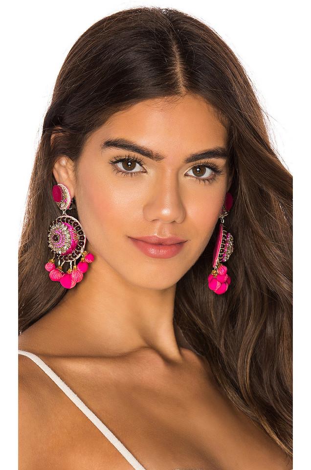 Ranjana Khan Ornament Dangle Earring in pink