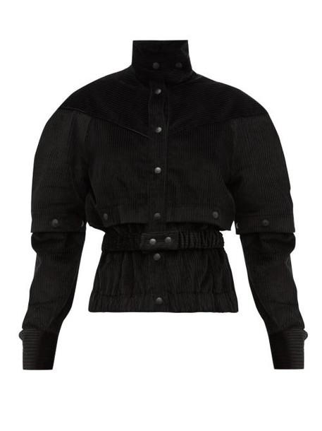 Symonds Pearmain - Press Stud Sleeve Cotton Corduroy Jacket - Womens - Black